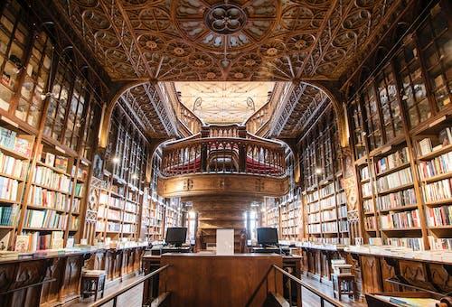 Immagine gratuita di biblioteca, camera, dentro, in legno