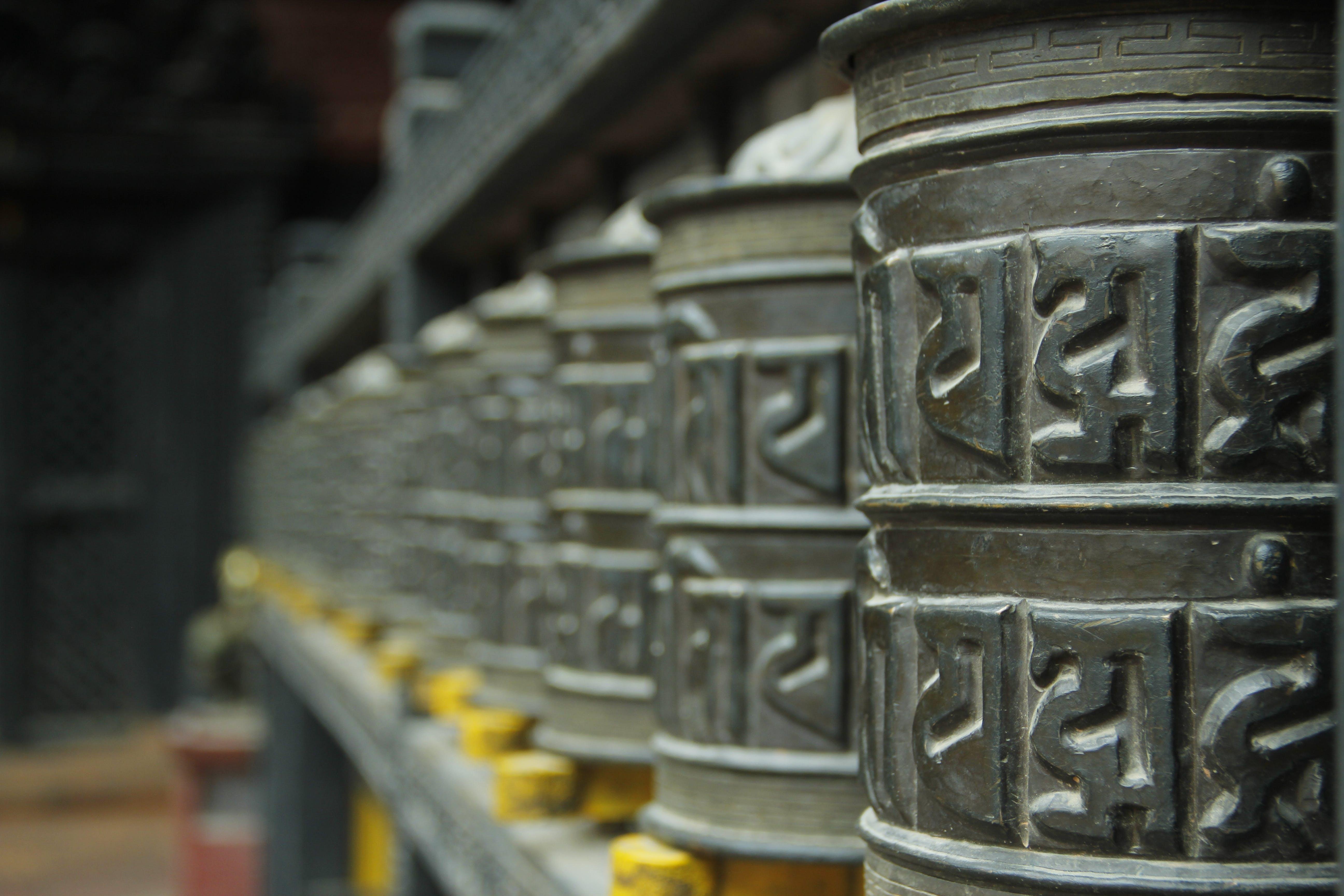 Free stock photo of prayer wheels