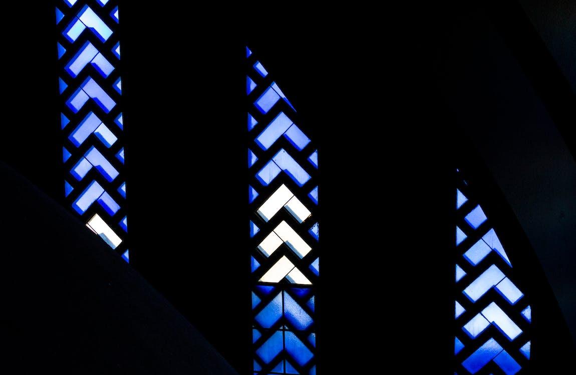 färgat glas, fönster, form