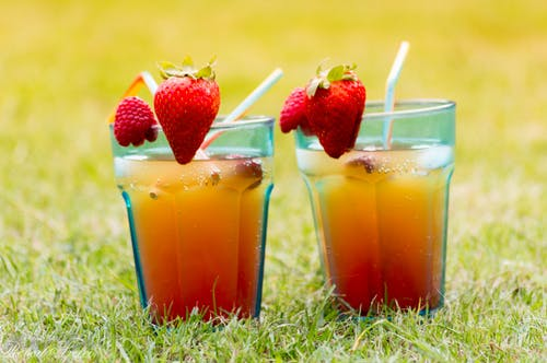 Free stock photo of beer garden, cold drink, drinking straw, orange