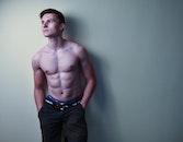 healthy, man, model