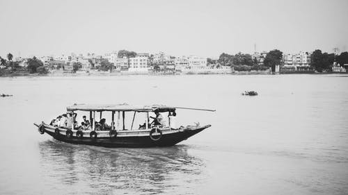 Free stock photo of black, black and-white, ganges