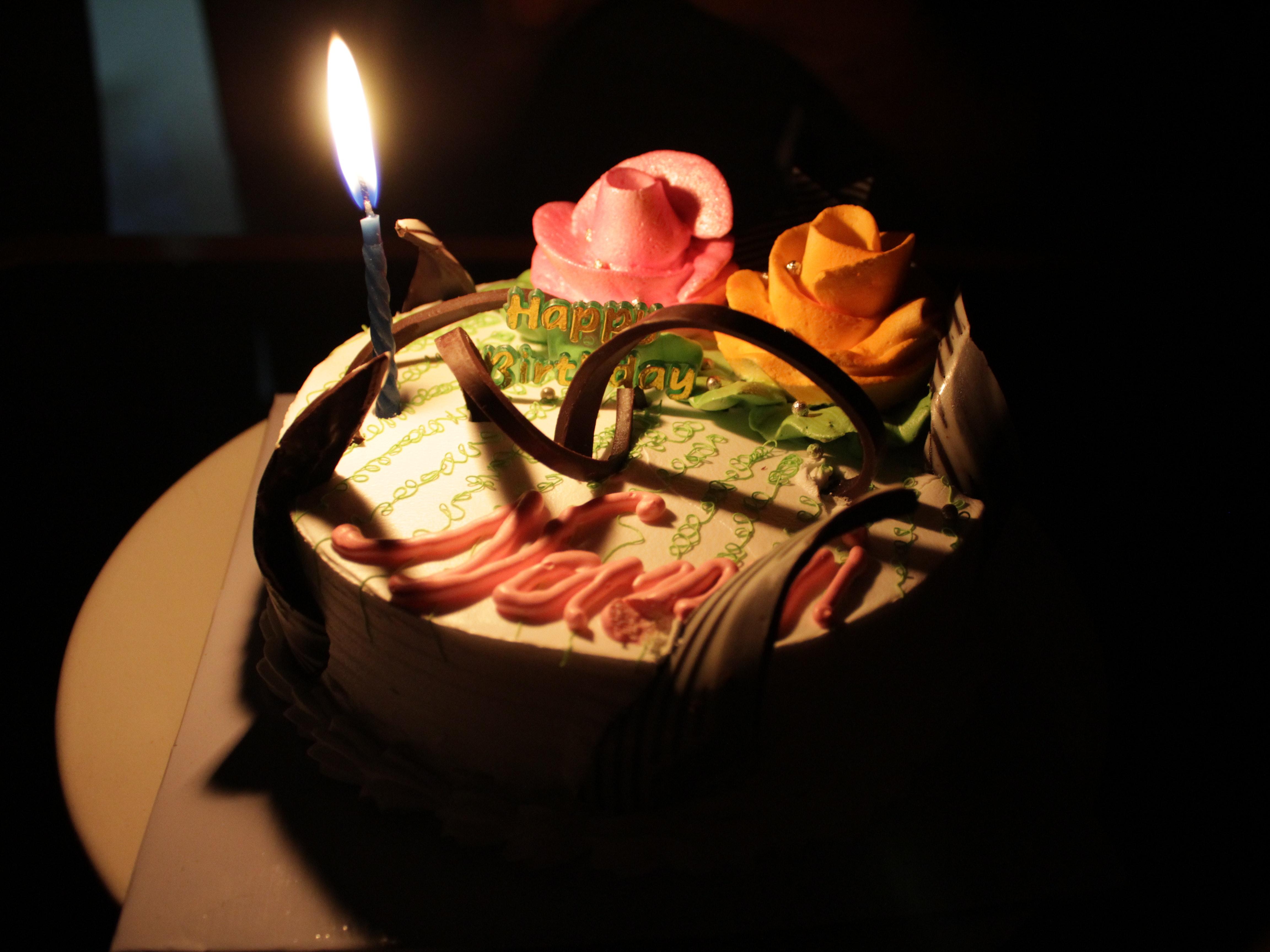 Free Stock Photo Of Happy Birthday Cake Candle