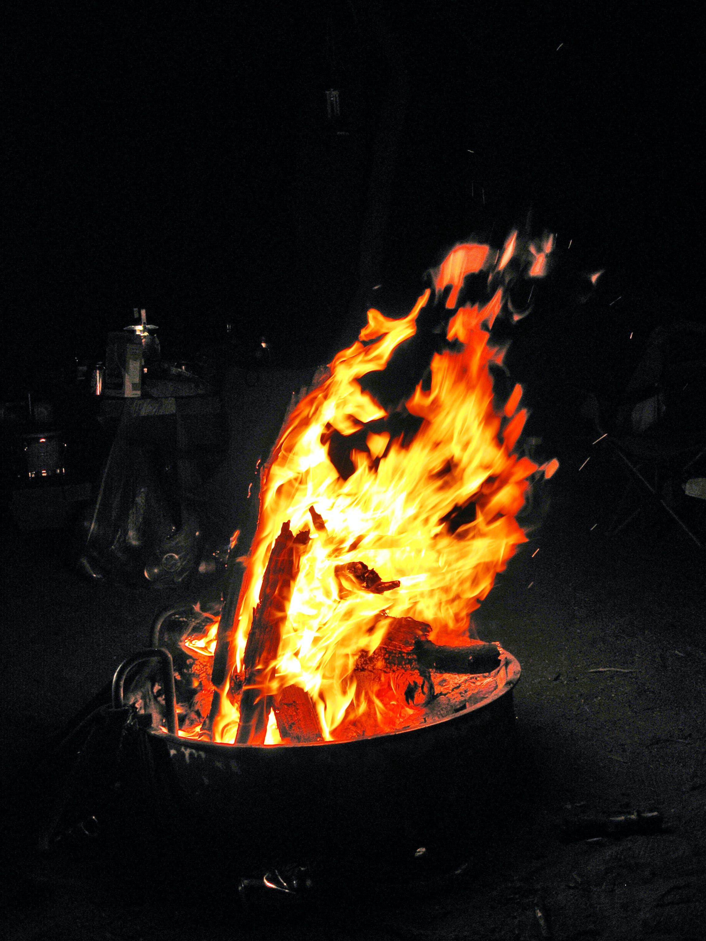 Selective Color Photography of Bonfire