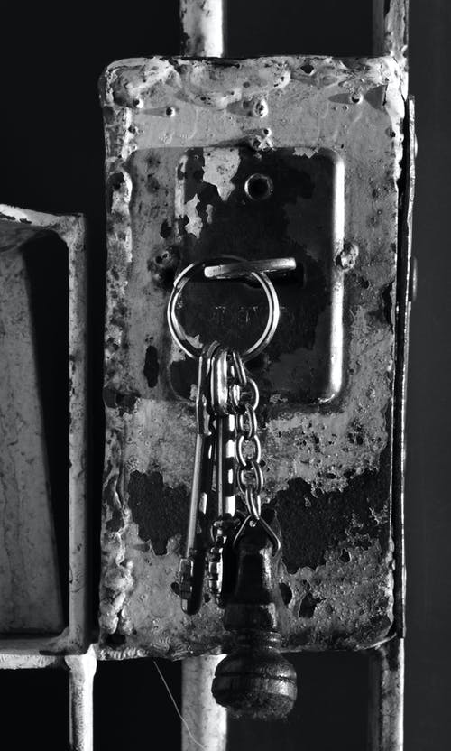 Free stock photo of antique, b&w, black and white, closed