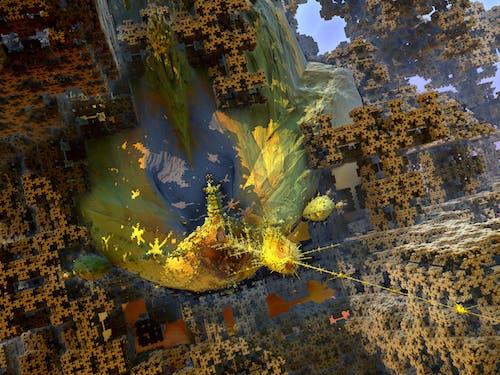 Darmowe zdjęcie z galerii z 3d hd streszczenie fractal, abstrakcyjny ekspresjonizm, alien strąki, fraktal