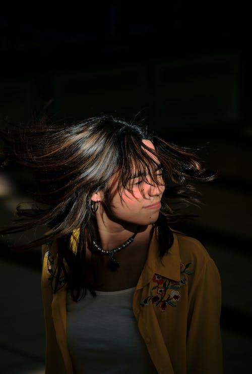 Free stock photo of crazy, cute girl, dark hair, daylight