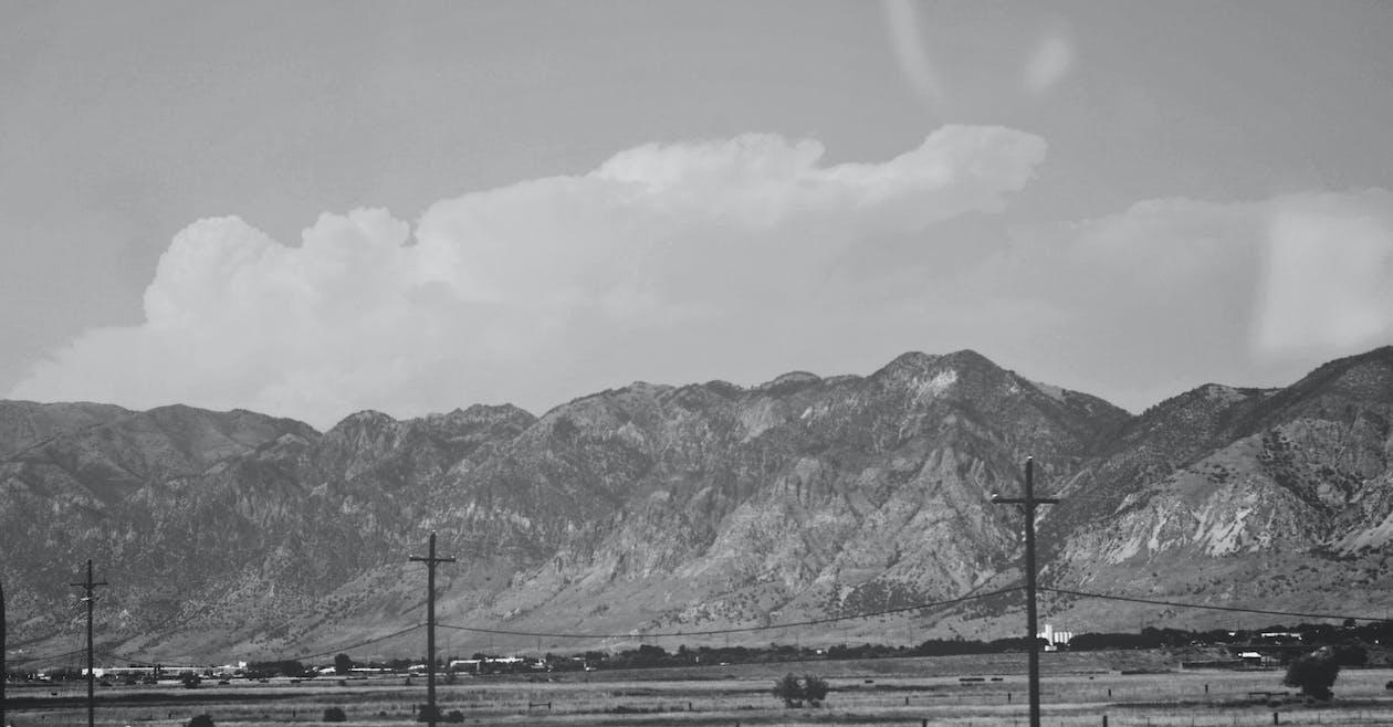 landschaft, schwarz und weiß, utah