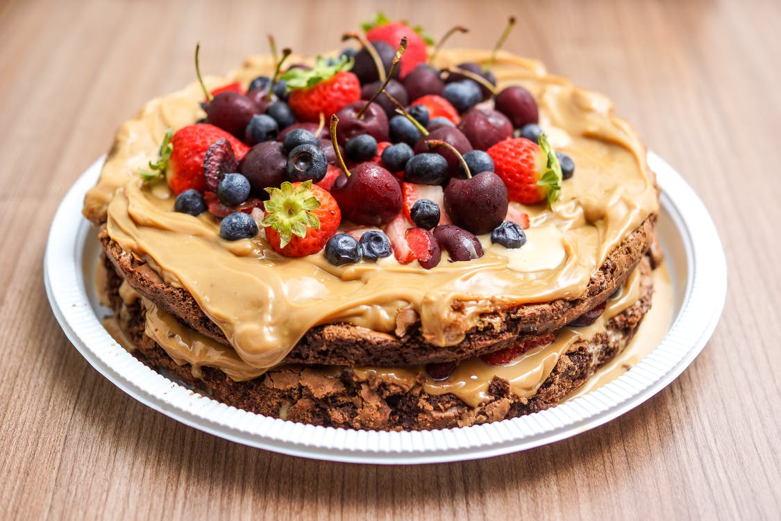 Butter Cookie Cake Toppings With Fruits