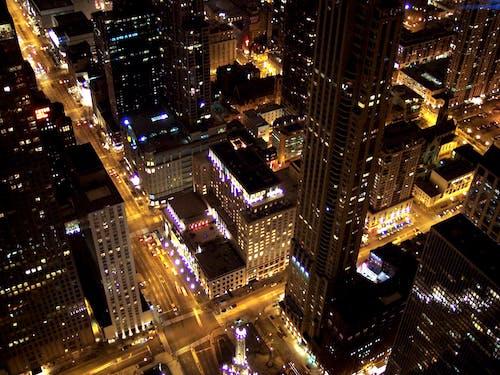 Gratis arkivbilde med by, bybilde, chicago, fra luften