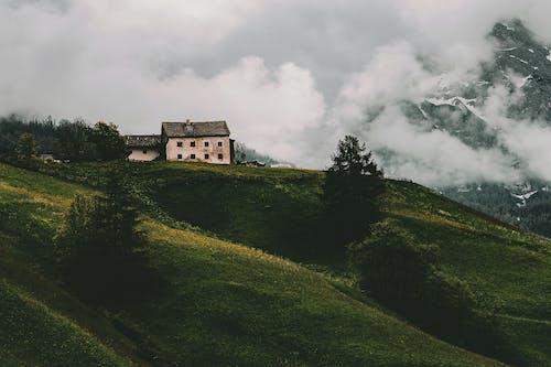 White and Gray House on Mountain