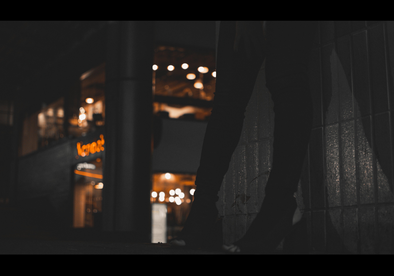 adult, dark, dark street