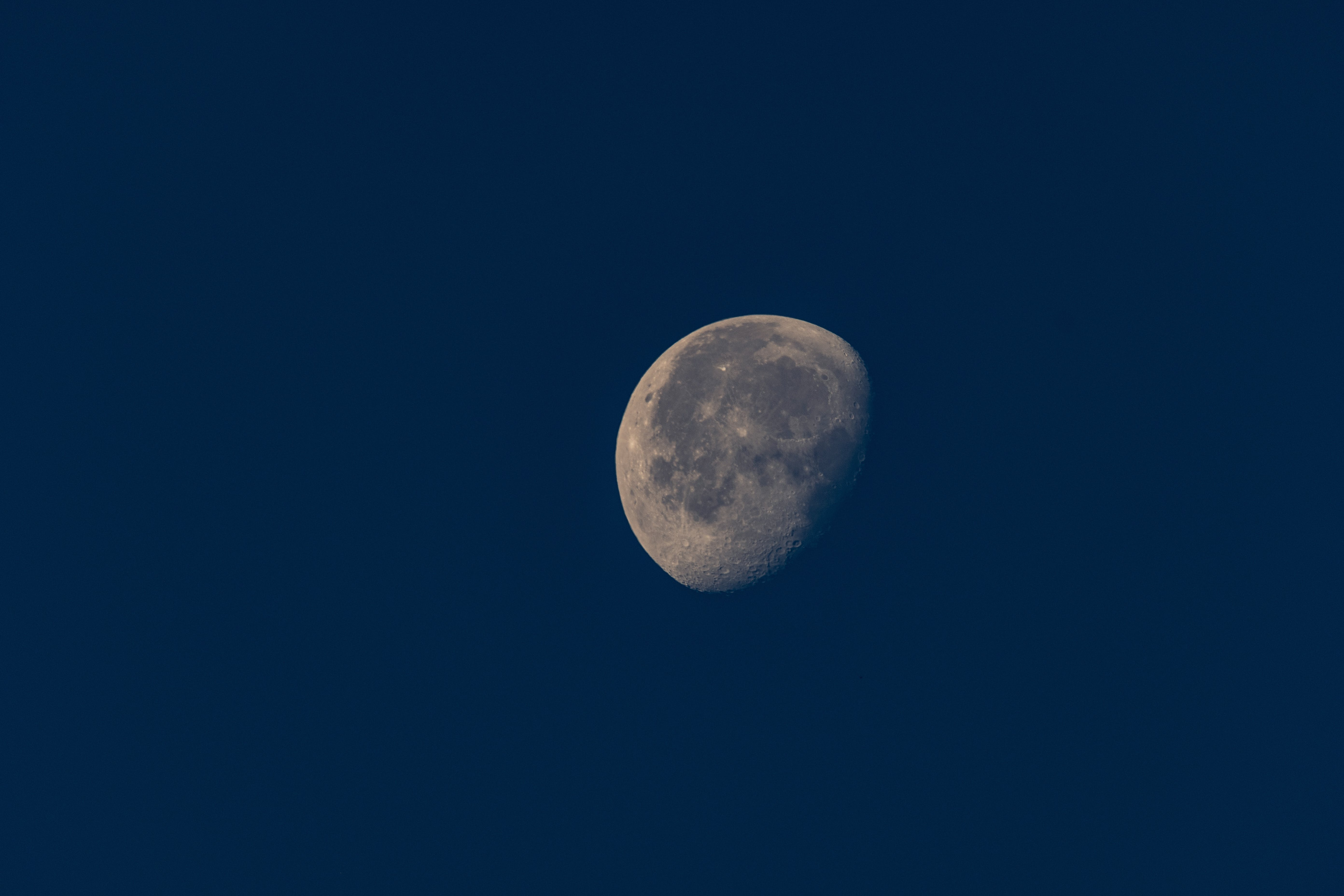 Half Moon With Black Background
