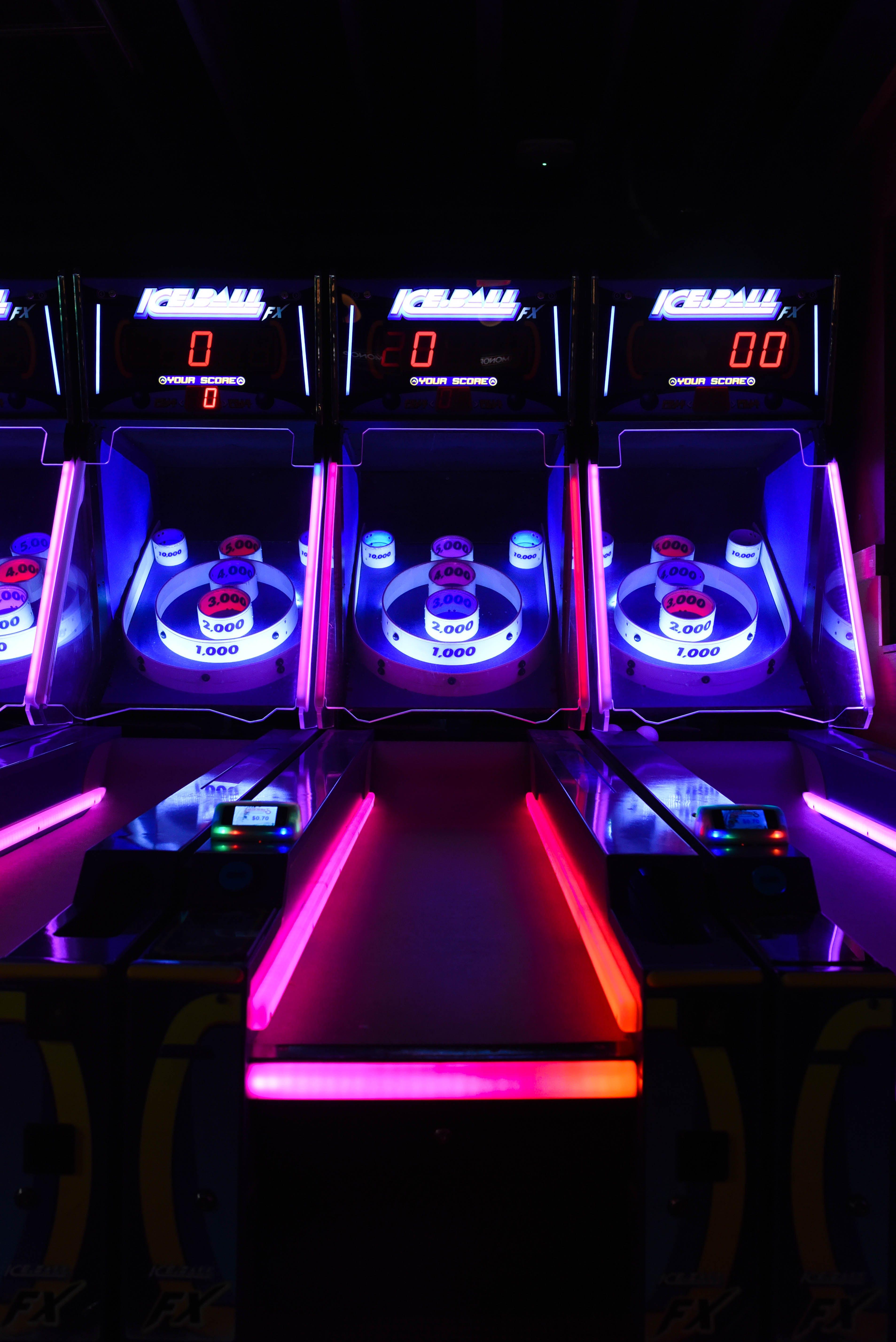 Led Lighted Bowling Arcade Machine