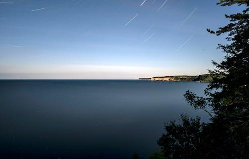 Δωρεάν στοκ φωτογραφιών με lake superior, αστέρια μονοπάτια, αστροφωτογραφία, νερό