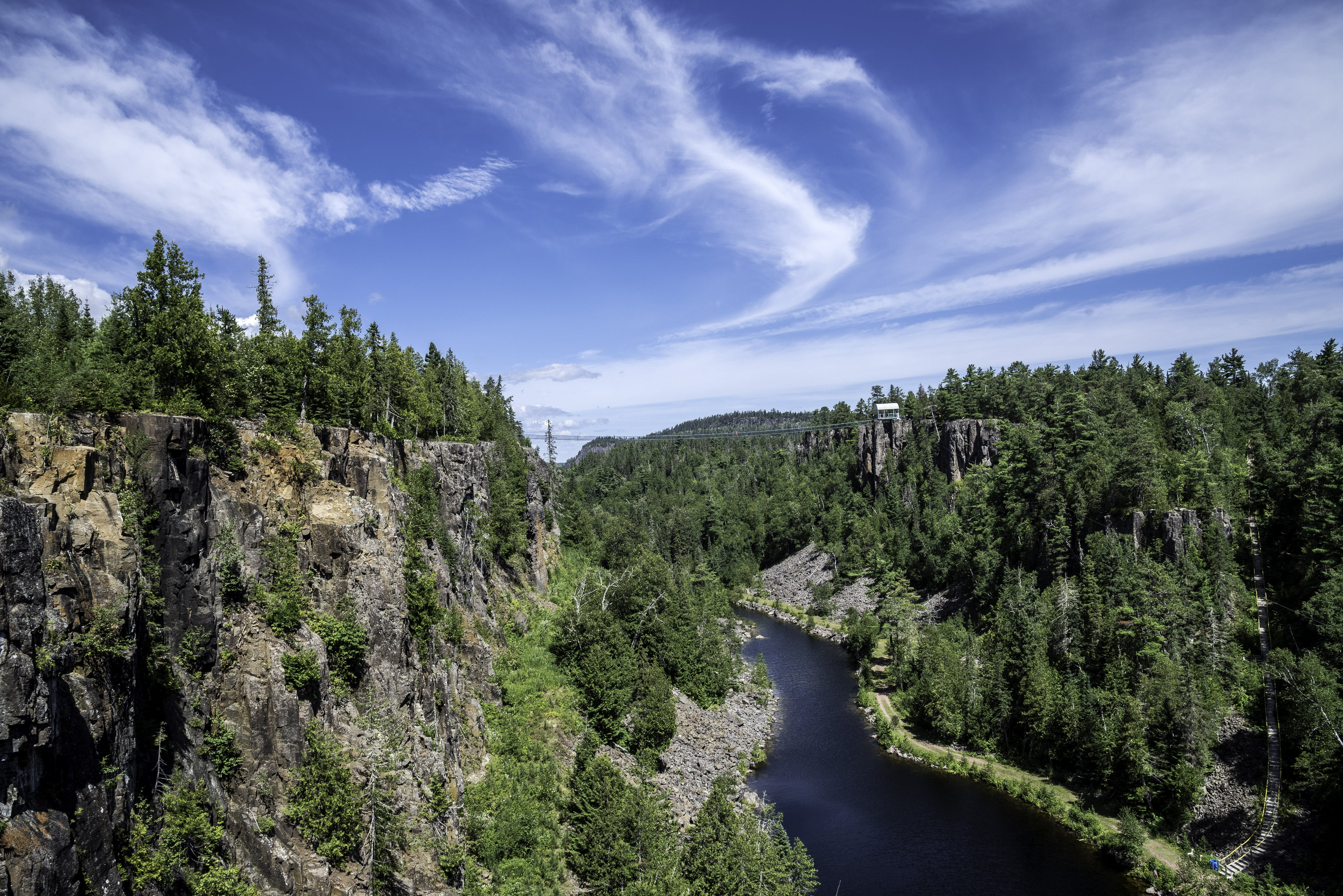 Landscape Photography of River and Trees Under Blue Sky