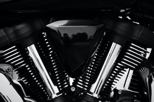 Free stock photo of black and white, motorcycle, roadliner