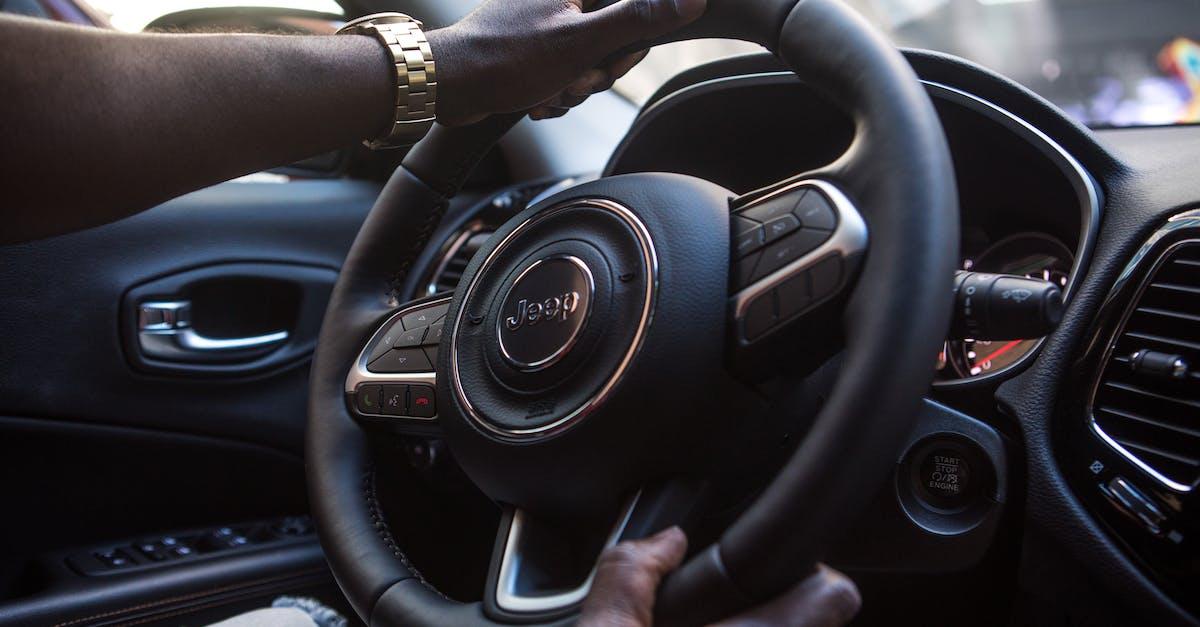 Black Jeep Vehicle Steering Wheel · Free Stock Photo