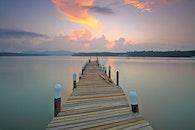 jetty, dawn, nature