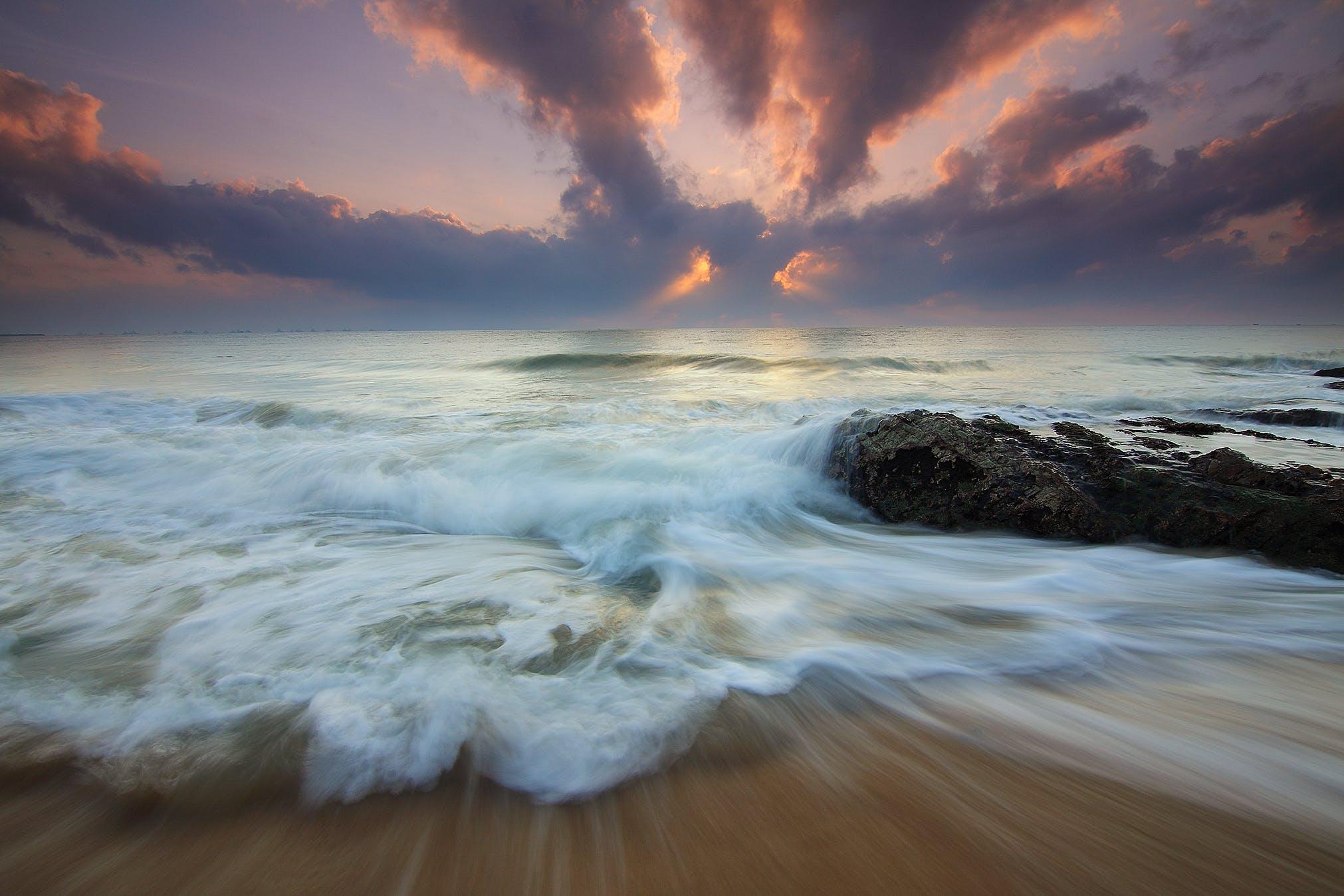 Sea Beside Seashore Photo
