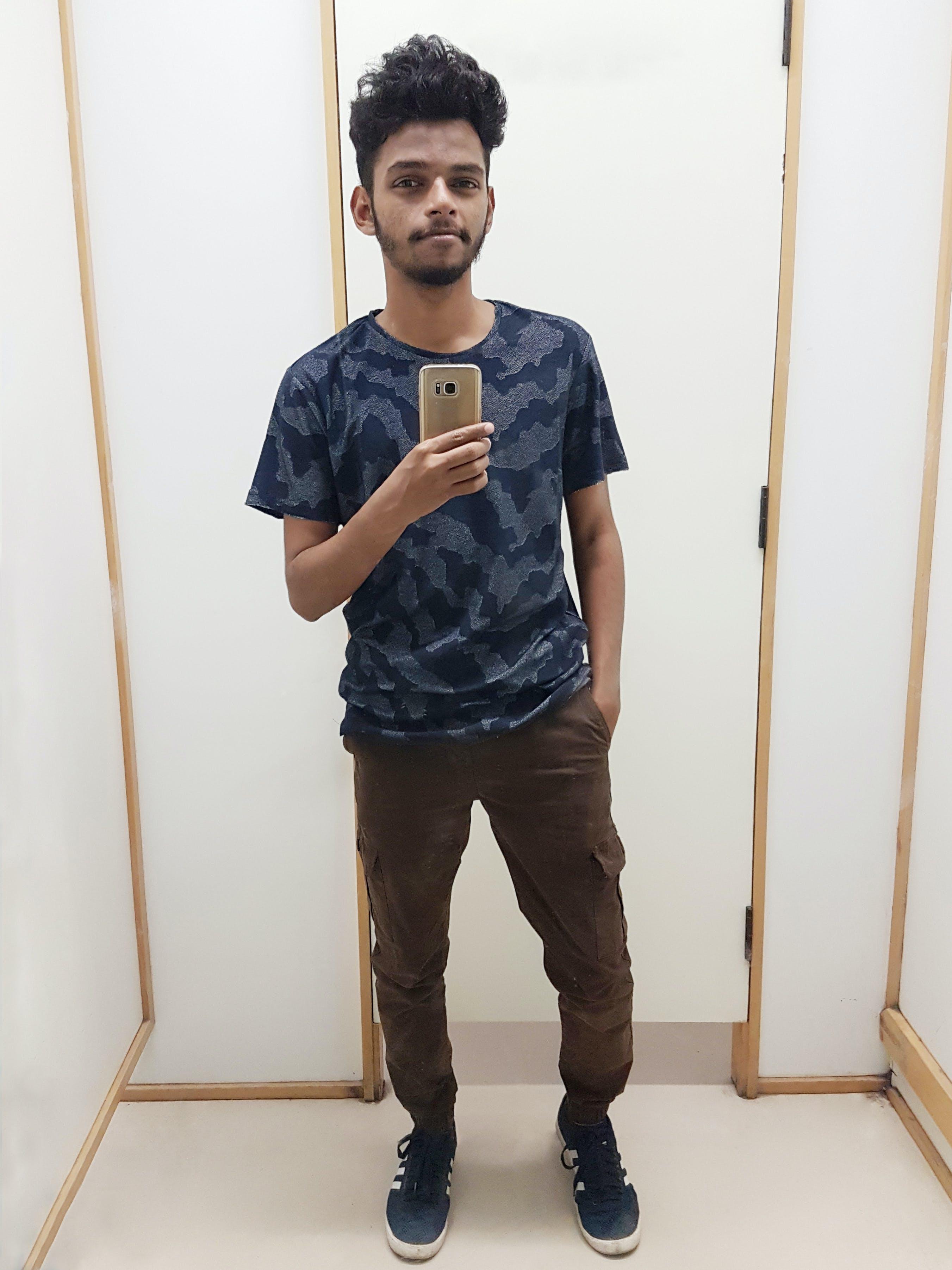 Free stock photo of indian boy, mirror, mirror image, selfie