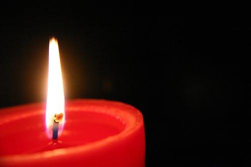 가벼운, 빨간, 왁스 양초의 무료 스톡 사진