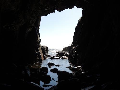 洞穴, 海 的 免费素材照片