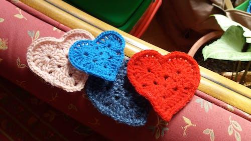 Free stock photo of coeur, crochet, hand craft
