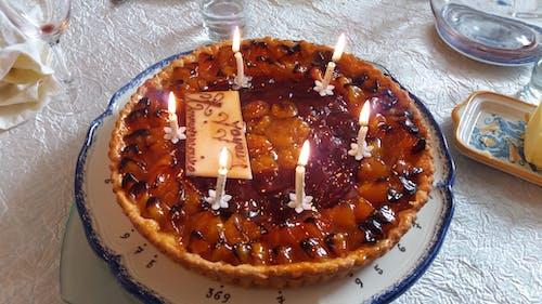 Free stock photo of anniversaire, happy birthday, Tarte aux mirabelles