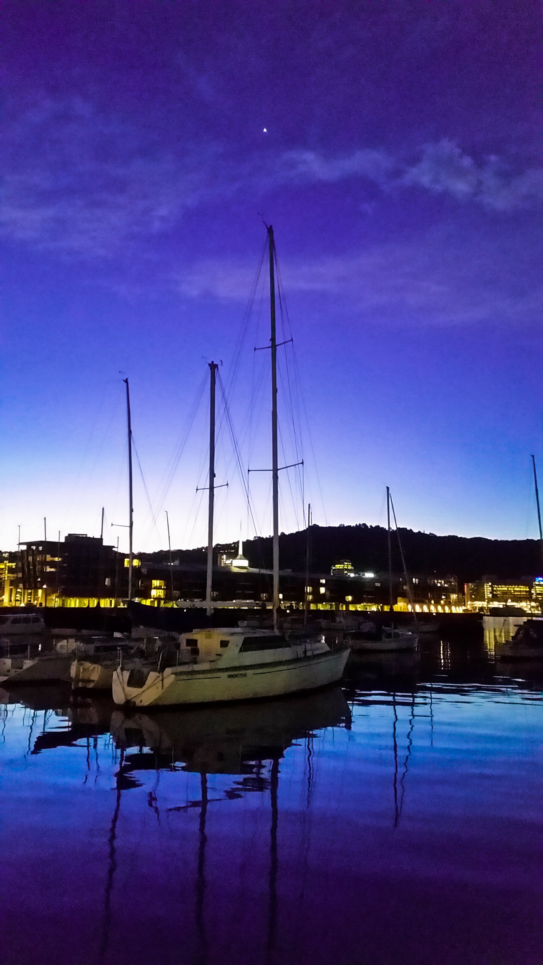 Free stock photo of night, boats, harbor, harbour
