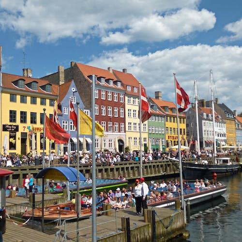 カラフルな家, コペンハーゲン, 船の無料の写真素材