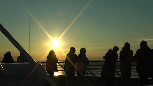 人, 日没の無料の写真素材