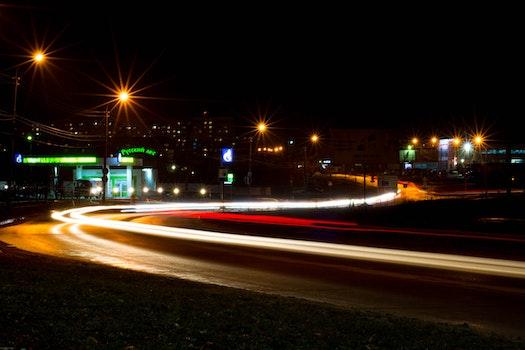 Kostenloses Stock Foto zu straße, nacht, langzeitbelichtung, russland