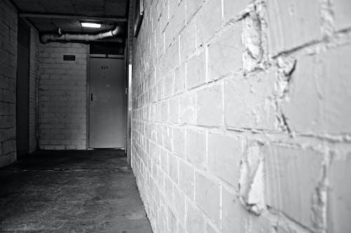 Free stock photo of brick wall, dark, drains, piping