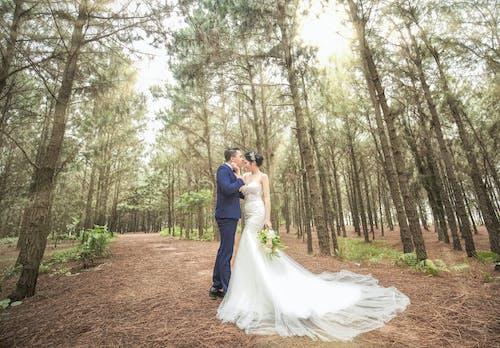 Kostenloses Stock Foto zu braut, braut und bräutigam, bräutigam, flitterwochen