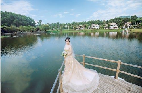 ウェディングドレス, ハネムーン, 新郎, 新郎新婦の無料の写真素材
