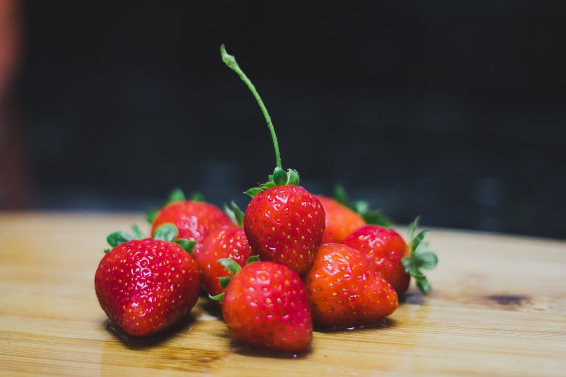 Shallow Focus Photography of Red Strawberries