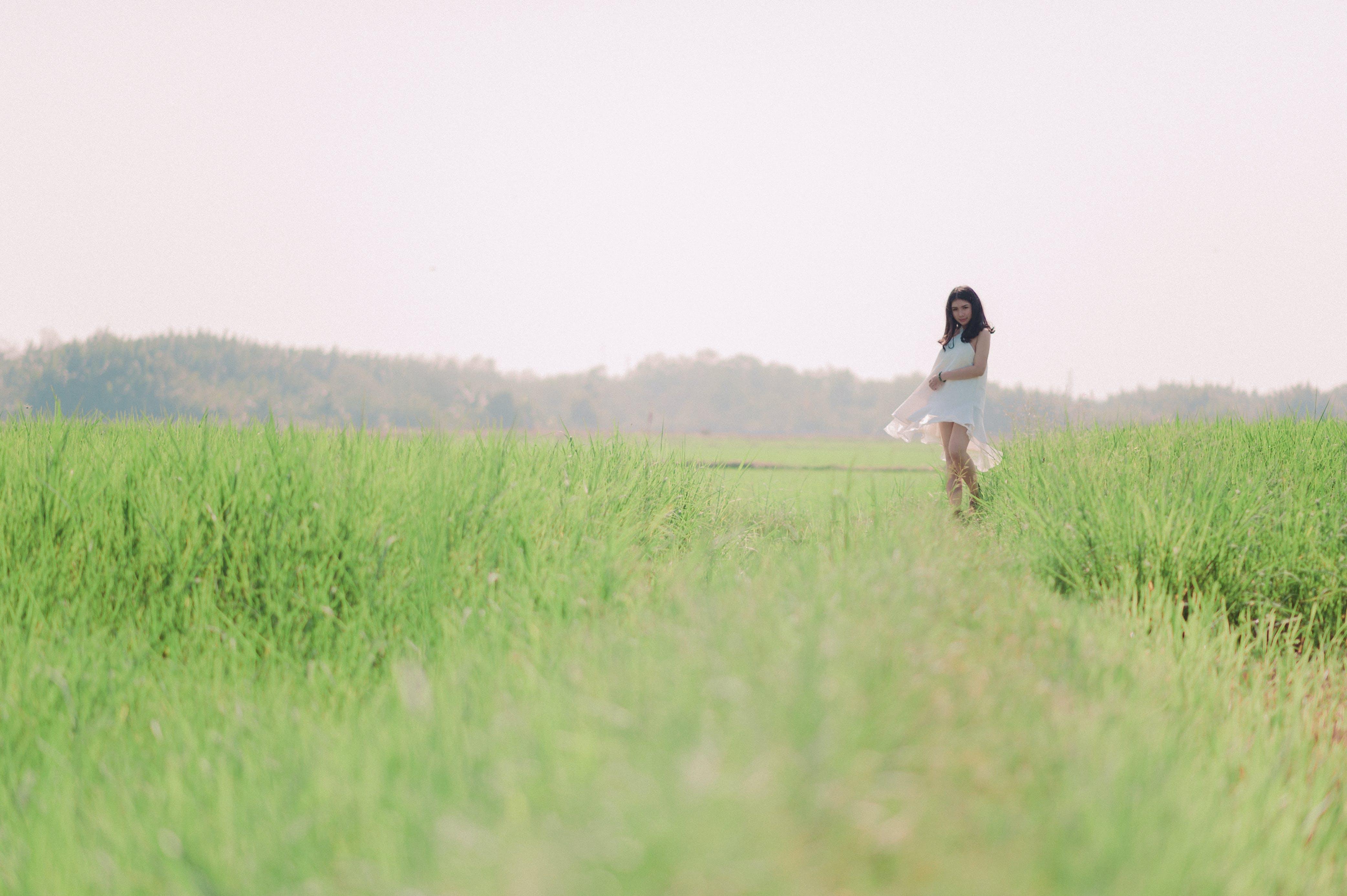agerjord, asiatisk kvinde, Asiatisk pige
