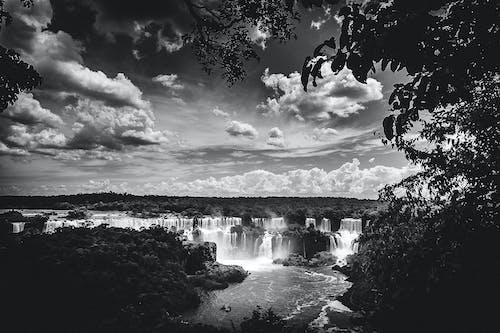 Fotos de stock gratuitas de blanco y negro, cascada, cascadas, cataratas do iguaçu