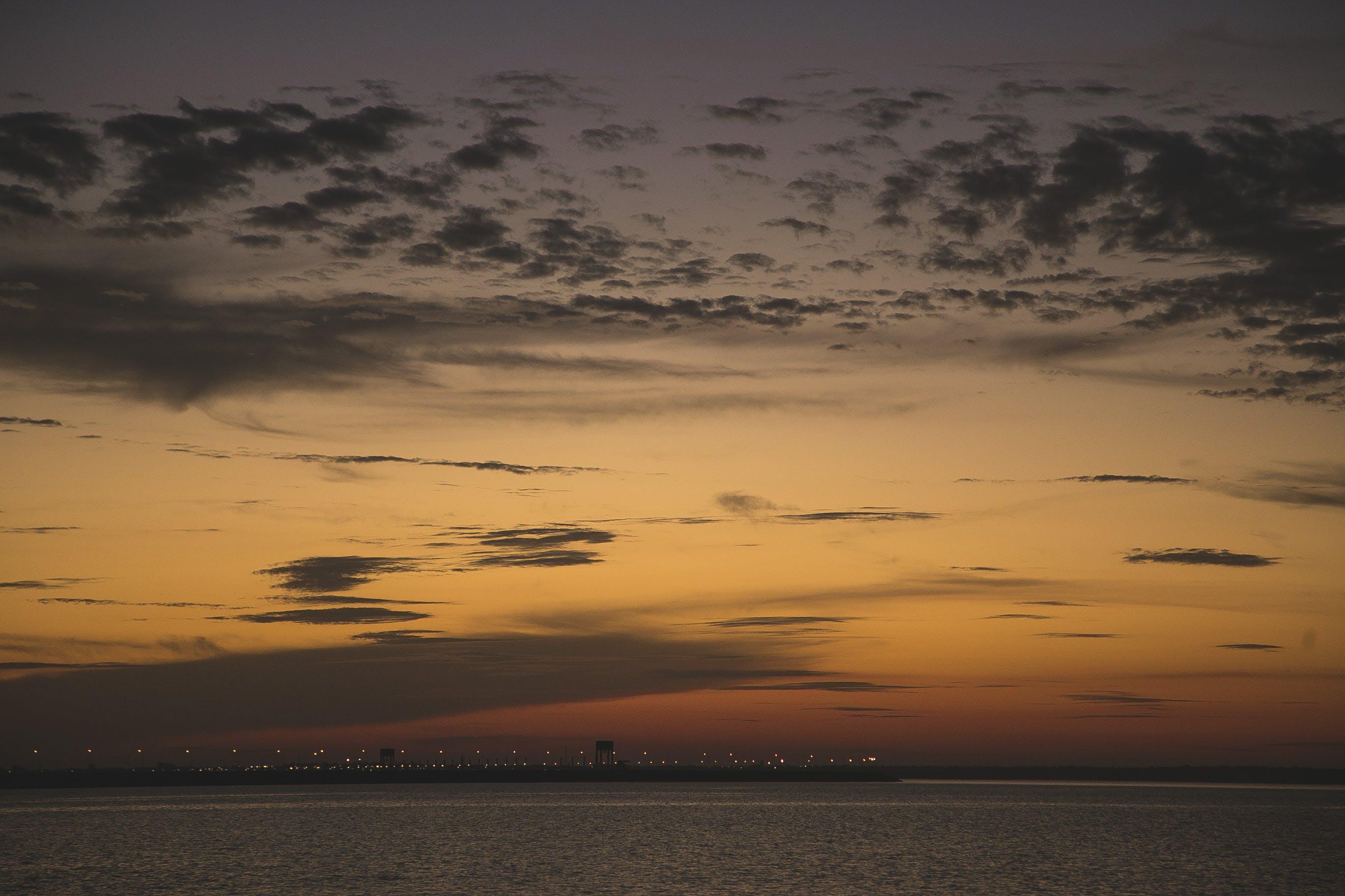 Free stock photo of sunset, golden sunset, itaipu dam