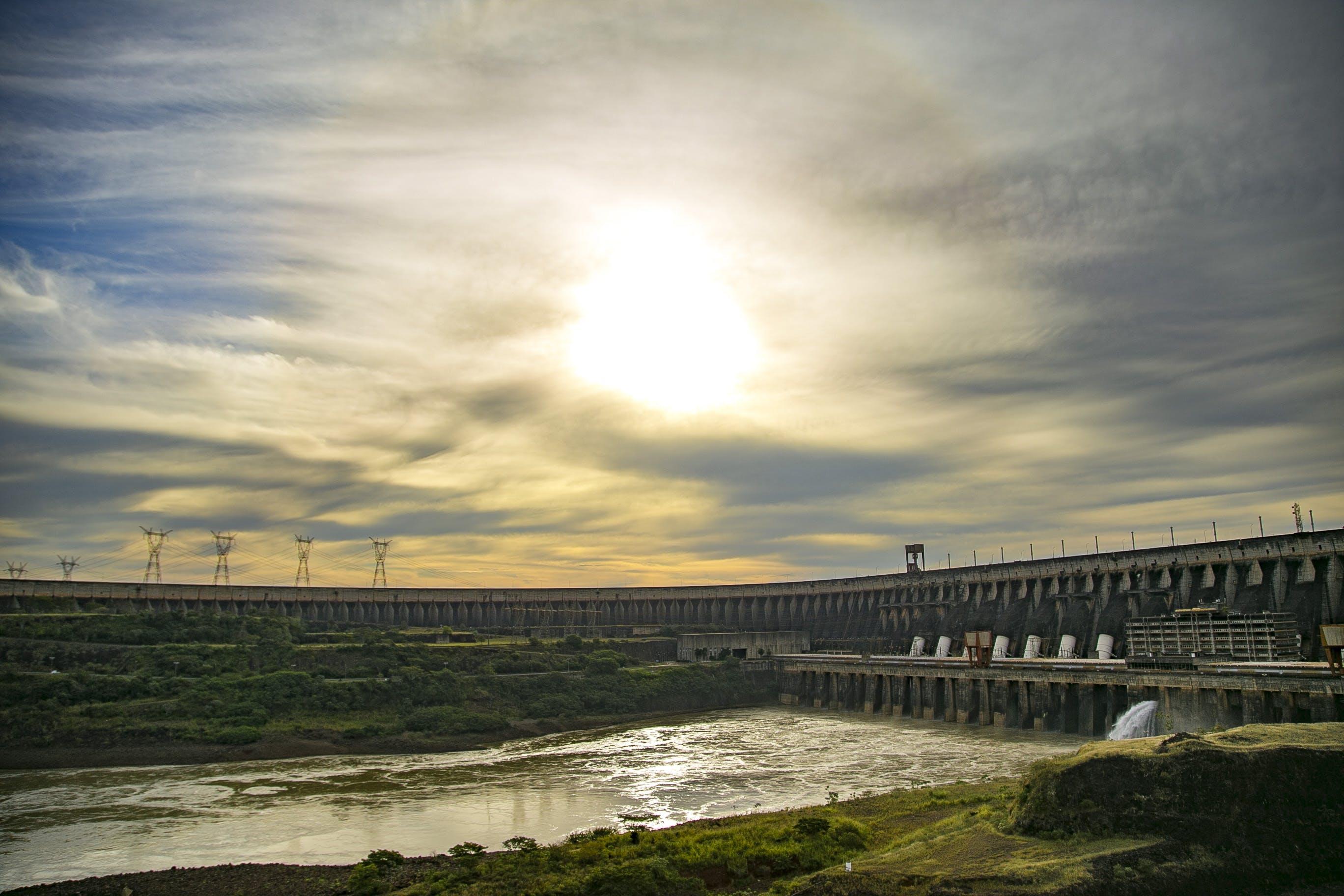 Free stock photo of water, building, eletricity, itaipu dam