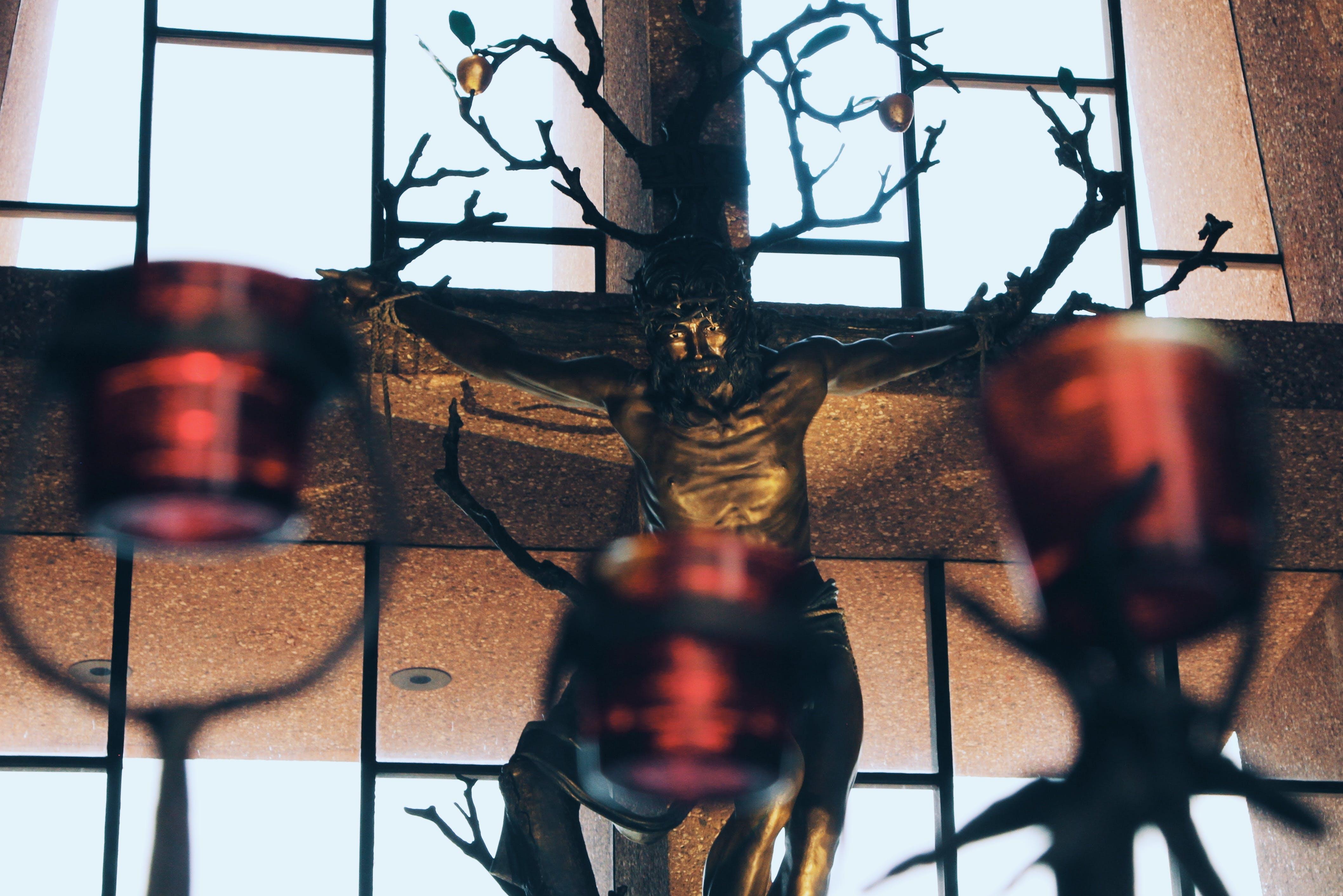 Free stock photo of candle, church, crucifix, jesus