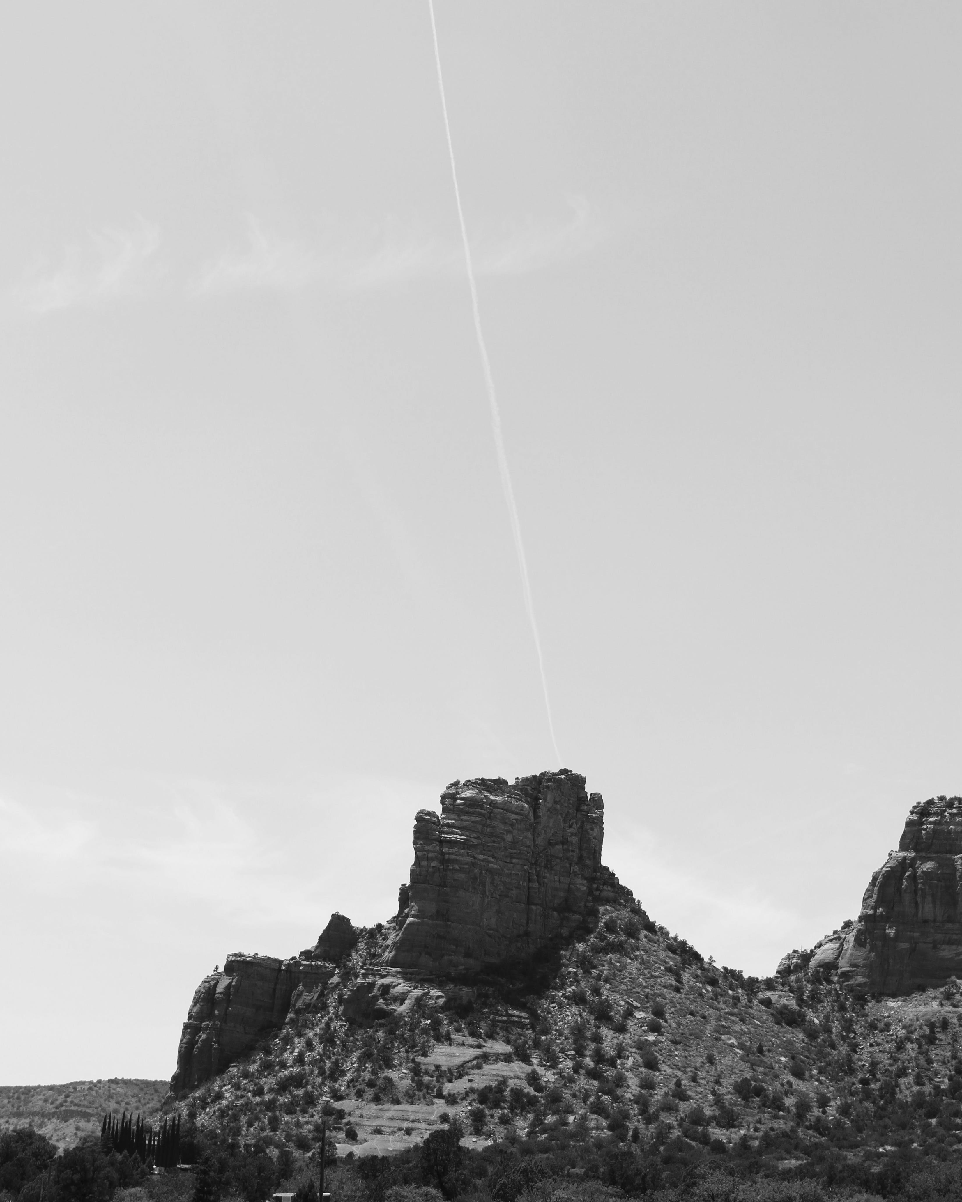 Free stock photo of black and white, landscape, mountain, nature