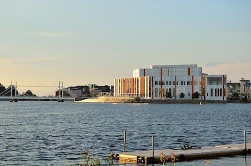 Základová fotografie zdarma na téma jönköping, kulturhuset, léto, most