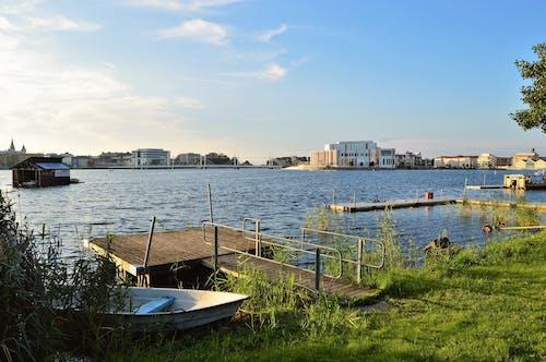 Foto profissional grátis de água, espaço, jönköping, ponte