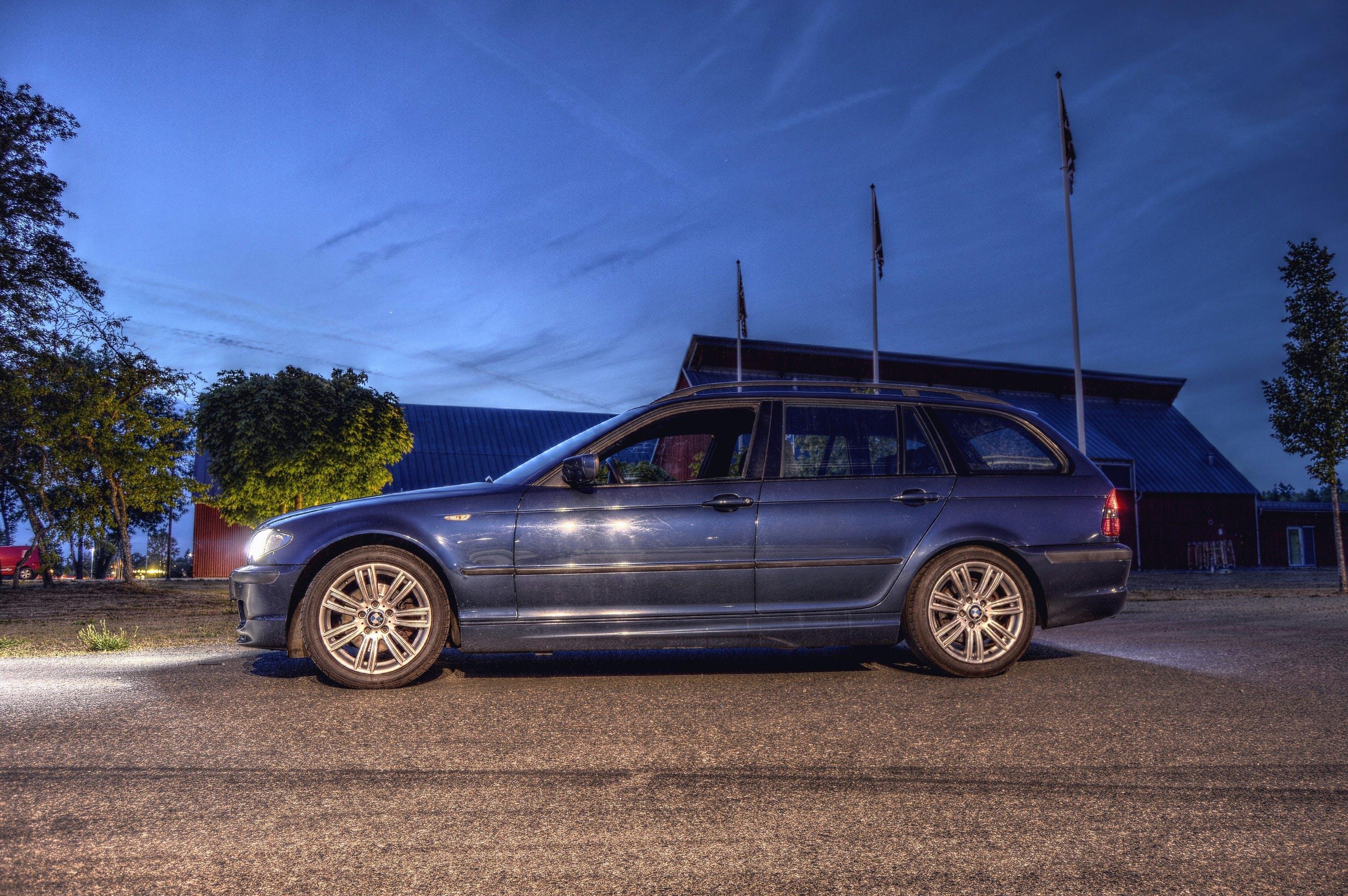 Free stock photo of lights, night, blue, car