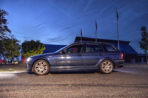 Základová fotografie zdarma na téma 320, auto, e46, modrá