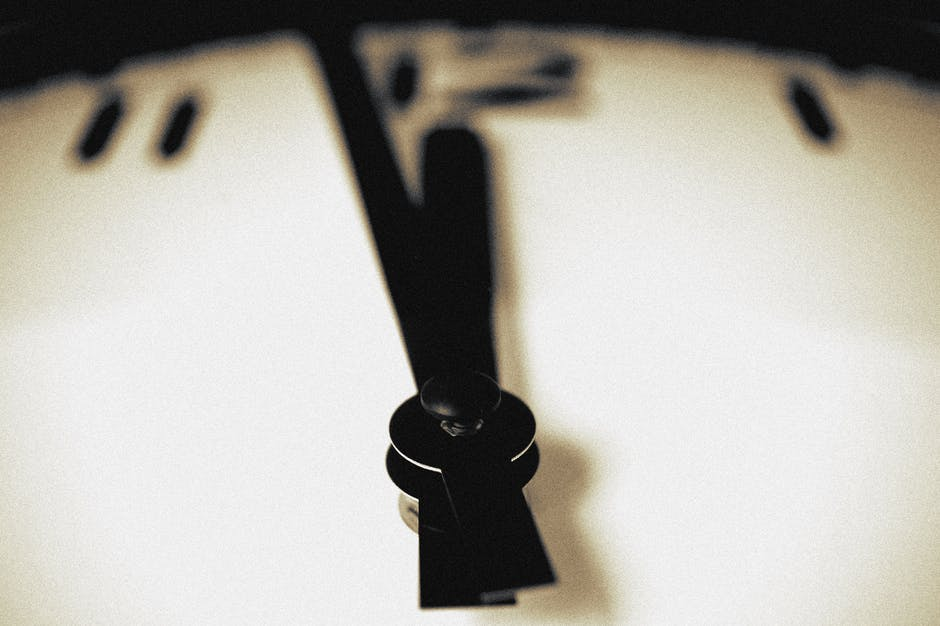 black-and-white, blur, clock