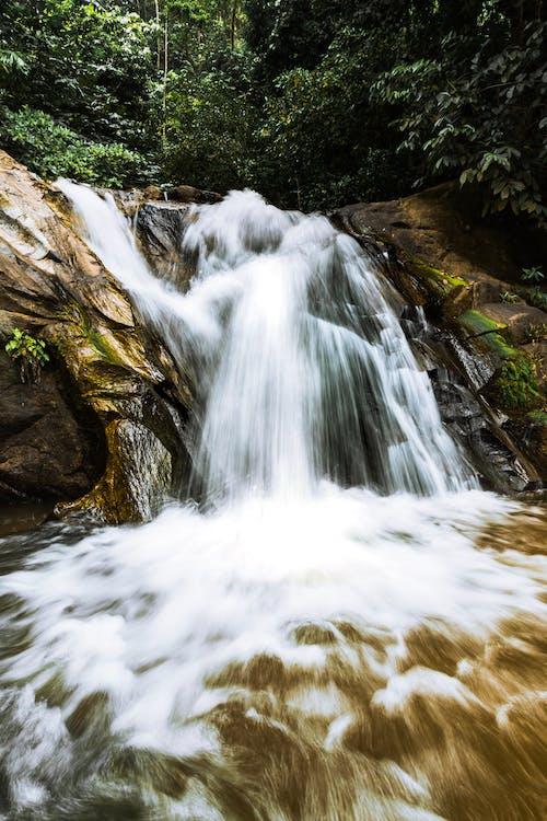 Бесплатное стоковое фото с вид на озеро, вода, водопад, длинная экспозиция