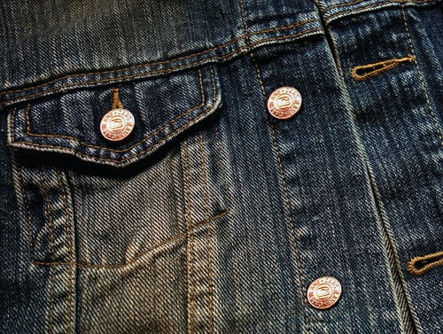 Free stock photo of breast pocket, button, button hole, denim